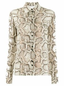 Givenchy snakeskin printed shirt - NEUTRALS
