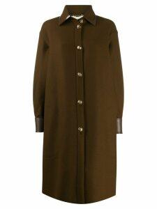 Fendi long shirt cut coat - Brown