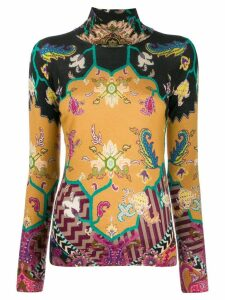 Etro paisley turtle-neck top - Black