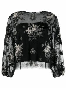 RedValentino floral lace blouse - Black