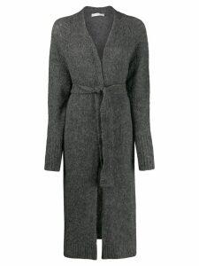 Tela belted knit cardigan - Grey