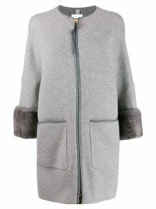 Agnona zipped overcoat - Grey