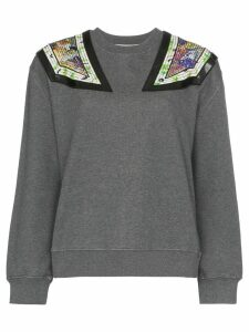 Stella McCartney shoulder appliqué sweatshirt - Grey