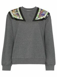 Stella McCartney shoulder appliqué sweatshirt - Grey