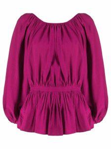 Mara Hoffman cinched waist blouse - PINK