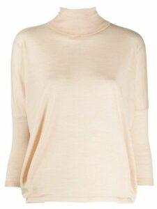 Ma'ry'ya cropped sleeve sweater - NEUTRALS