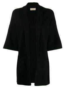 Ma'ry'ya cropped sleeve cardi-coat - Black