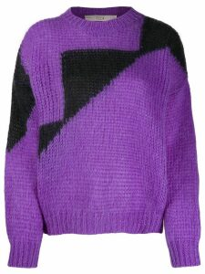 Tela oversized color-block sweater - Purple