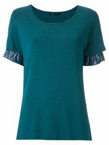 Uma Raquel Davidowicz Cuba ruffle sleeves blouse - Blue