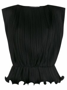 Givenchy sleeveless ruffled hem blouse - Black
