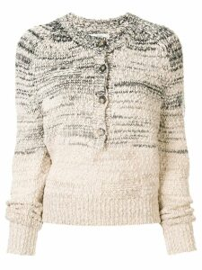 Isabel Marant Étoile two-tone knit jumper - White