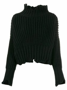 Thom Krom stand-up collar jumper - Black