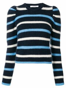 Derek Lam 10 Crosby striped puff sleeve sweater - Blue