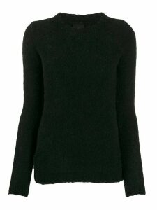 Thom Krom long-sleeve fitted sweater - Black