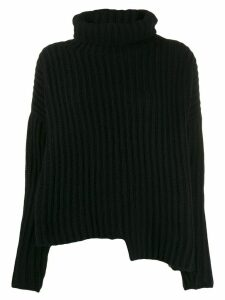 Thom Krom asymmetric turtle-neck sweater - Black