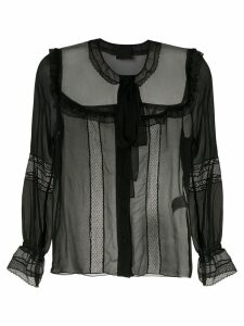 Andrea Bogosian bow silk blouse - Black