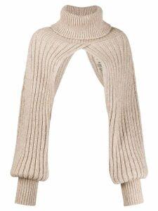 Uma Wang neck and hand sleeve top - NEUTRALS