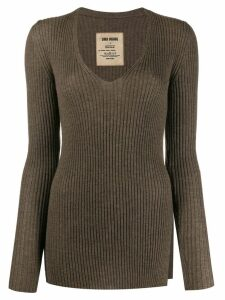 Uma Wang slim-fit cashmere jumper - Brown