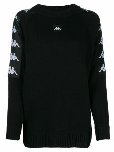 Kappa logo trim jumper - Black