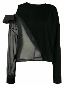 Federica Tosi sheer panel jumper - Black