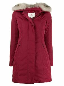 Peuterey fur collar coat - Red
