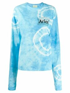 Aries logo print sweatshirt - Blue