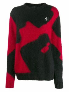 Marcelo Burlon County Of Milan oversized colour block sweater - Black