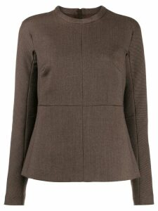 Jil Sander round neck blouse - Brown