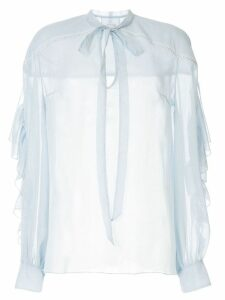 Ingie Paris pussy bow blouse - Blue