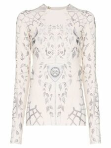 GmbH graphic print long-sleeve top - NEUTRALS