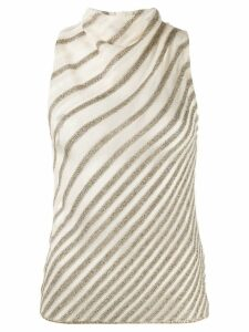 Missoni zigzag pattern knitted top - NEUTRALS