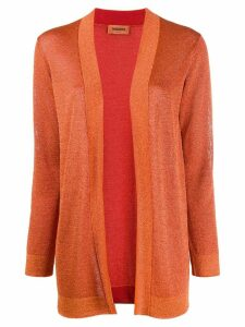 Missoni open front cardigan - ORANGE