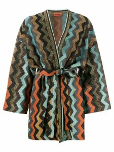 Missoni zig-zag knit cardigan - Blue