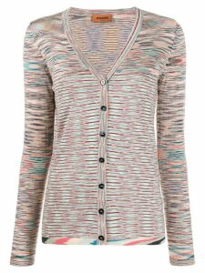 Missoni V-neck striped cardigan - Pink