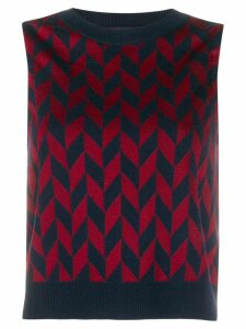 Missoni zigzag pattern knitted top - Blue