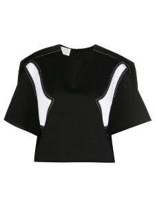 Maison Margiela contrast panel T-shirt - Black