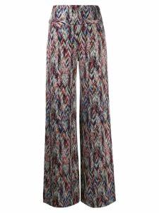 Missoni zigzag pattern knitted leggings - Grey