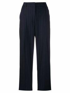 Alberto Biani tailored pinstriped trousers - Blue