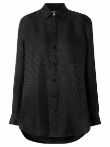 Burberry Monogram Silk Jacquard Shirt - Black