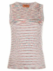 Missoni striped knit tank top - PINK