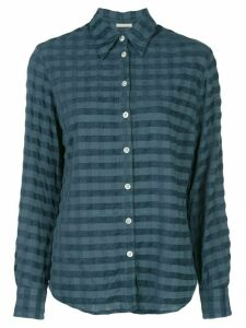 Massimo Alba checked print shirt - Blue