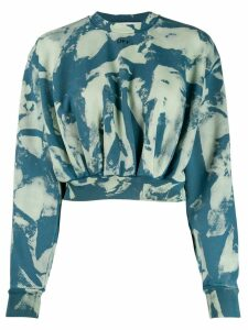 Off-White bleached print sweatshirt - Green