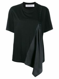 Victoria Victoria Beckham pleat panel T-shirt - Black