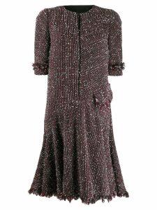 Talbot Runhof short tweed dress - Red