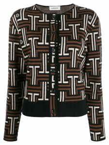 LANVIN JL monogram cardigan - Brown