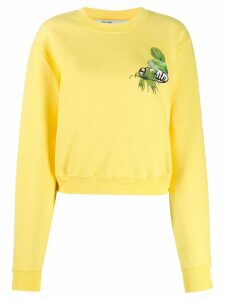 Off-White printed cropped sweatshirt - Yellow