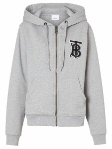 Burberry monogram motif hoodie - Grey