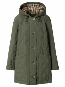 Burberry quilted thermoregulated coat - Green