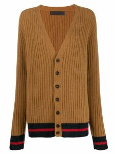 The Elder Statesman ribbed cashmere cardigan - Brown