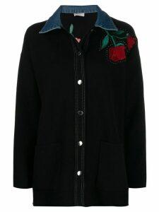 Sandro Paris floral embroidered shirt - Blue